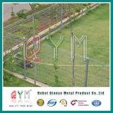 Загородка ячеистой сети Brc сваренная PVC/загородка верхней части крена/загородка сетки Brc