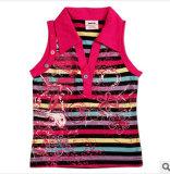 La nouvelle de l'été 2014 Commerce de gros vêtements enfants fille T-shirts en coton