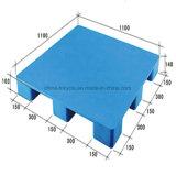 Pálete lisa plástica enfrentada dobro logística de /HDPE de 4 maneiras para o armazém