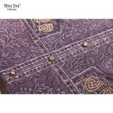 Оптовик платья длиннего платья хлопка высокого качества Miss Вы Ailinna 170409 напечатанный цифров Beaded длинний