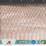 Righe tessuto di Snakeskin del commercio all'ingrosso del fornitore della Cina della pelle scamosciata di doratura di disegno per i sacchetti/pattini/sofà