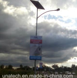 Solar Outdoor Street Pole Banner LED Publicité Light Box