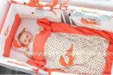 Fornecimento de fábrica do conjunto de cama de bebê (travesseiro, colcha, saco de dormir)
