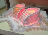 Three Colors를 가진 2 Commercial Buildings Architectural Model