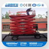 Plataforma hidráulica telescópica automotora e móvel de preço de fábrica de funcionamento