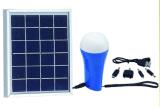 懐中電燈が付いている1.5W再充電可能な太陽LEDのホームライト
