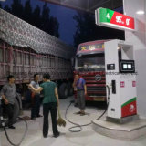 Tankstelle mit 4 großer LCD-Bildschirmanzeige und 2 Düsen