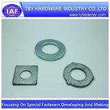 Rondelle galvanisée de plan de l'acier du carbone DIN125