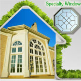 Janela de design moderno para sua casa, circular / redondo ou qualquer personalizado Janela de vidro em forma de madeira de especialidade