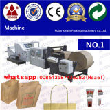 Voller Spannkraft-Kontrollen-Papierbeutel, der die Maschinen-Papier-Einkaufstasche herstellt Maschine bildet