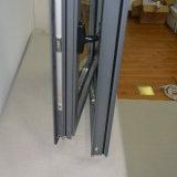 Finestra di alluminio della stoffa per tendine di profilo di colore grigio di alta qualità con la multi serratura K03004
