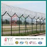 Malla de alambre de púas de alta calidad 358 valla valla fábrica Anping / aeropuerto