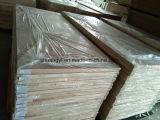 Porte en bois moderne intérieure en bois creuse/solide composée de mélamine
