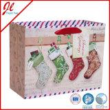 Todos os sacos de presente de papel padrão Kraft do Willow Euro-Shoppers para ocas com alça