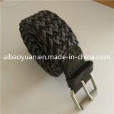 Les filetages de coton noir de carbone et le cuir des cordages tressés ceinture inélastique