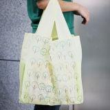 Sac à provisions non-tissé de papier de traitement de toile de coton de sac à provisions de cadeau (X018)
