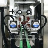 Máquina de etiquetado principal doble de la funda del encogimiento de la carrocería de la cápsula y de la botella para la poder de la botella