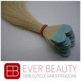 Cabelo humano do micro Virgin das extensões do cabelo da fita com melhor qualidade