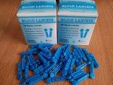 Lanceta de sangre plástica médica disponible