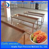 Tabela de funcionamento do aço inoxidável da máquina do alimento