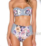 Heißer verkaufender kundenspezifisches reizvolles Badebekleidungs-Mädchen-trägerloser Bikini des Drucken-2017