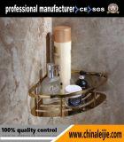 Panier de coin de salle de bains d'acier inoxydable de placage à l'or