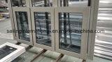 Guichet en aluminium - oscillation de tissu pour rideaux dans le guichet