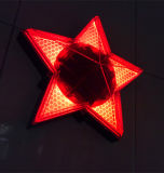 Pentagram Five-Pointed Star lampe de lampe de décoration murale solaire