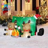 Nuovi cervi gonfiabili decorativi festivi della decorazione di natale
