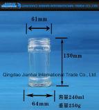 Frasco de vidro de recipiente de molho de pimenta para gelar