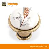 Maniglia di ceramica in lega di zinco di tiro del Governo della mobilia delle maniglie del perno (C252 DAB-N)