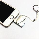 movimentação do flash do USB de /OTG da movimentação da pena do metal do USB de 8GB 32GB 64GB mini para mais do iPhone 5/5s/5c/6/6/iPad I-Flashdrive Pendrive