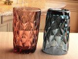 Cuvettes en verre colorées avec des tasses en verre de boissons de logos de Customizd pour l'eau de jus