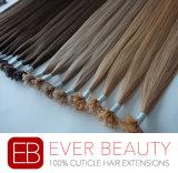 100%の加工されていない人間の毛髪Uの先端の人間の毛髪の拡張