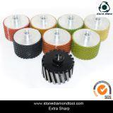 Roda de tambor de diamante de polir molhado de resina de 3 polegadas