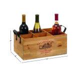 Rectángulo verdadero del vino de la botella de madera 6