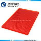 Strato rosso materiale del tetto (PC) della cavità del policarbonato del Bayer per la decorazione