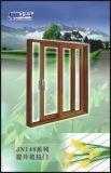 Puerta deslizante de cristal de aluminio con la red de la pantalla