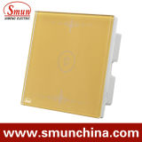 1 clé de l'or interrupteur mural, 1 piste /2gang/3gang/4gang Maison utilisée le contacteur de commande à distance