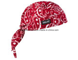 Chine Factory Produce Customized Logo Imprimé Promotionnel Sports Coton Red Paisley Biker Bandana Cap