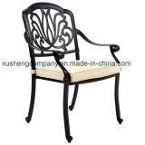 현대 작풍 옥외 정원 가구 주조 알루미늄 Table+Chair 세트