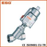 Válvula neumática de asiento del ángulo del cilindro de Esg