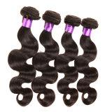 cabelo peruano do Virgin da onda do corpo da classe 7A extensões peruanas de tecelagem do cabelo humano do delicado 100% do corpo peruano não processado de 4 pacotes