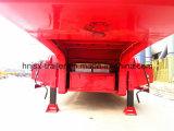 3 Eje expuesto en neumáticos Lowbed Especial / bajo cubierta / rebajada de carga de camiones semi remolque de la grúa o vehículo para la venta