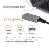 Aluminiumlegierung USB USB-C zum HDMI Adapter in Goldenem, Rosen-Rot, China-Rote, graue, silberne Farben
