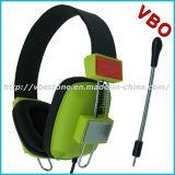 Écouteur stéréo bas lourd d'ordinateur d'écouteur avec la MIC détachable