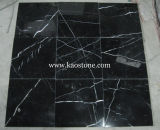 Tombstone、Fireplace、Pavingのための割引Price中国Black Marble Slab