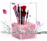 Cas acrylique d'organisateur de renivellement pour le balai cosmétique