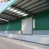 Motorizados eléctricos industriales aislamiento térmico de puerta de garaje deslizamiento transversal superior