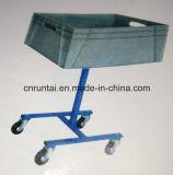 Eine grosse Fußrollen-mobile Hilfsmittel-Karre des Tellersegment-vier